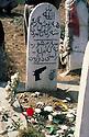 Iran 1981.In the cemitery of Oushnavieh, the gravestone of a peshmerga ( Kurdish fighter )