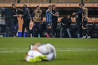 SÃO PAULO, SP 27.08.2019: PALMEIRAS-GRÊMIO -Alisson comemora gol. Palmeiras e Grêmio, durante partida válida pelas quartas de final da Libertadores, no Pacaembu, zona oeste da capital, na noite desta terça-feira (27). (Foto: Ale Frata/Código19)
