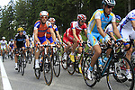 The peloton including Lars Boom (NED) Rabobank climbs the Cote de Francorchamps during Stage 1 of the 99th edition of the Tour de France, running 198km from Liege to Seraing, Belgium. 1st July 2012.<br /> (Photo by Eoin Clarke/NEWSFILE)