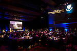 St Johnstone FC Hall of Fame Dinner, Perth Concert Hall….03.04.16<br />Club poet Jim Mackintosh reads a poem<br />Picture by Graeme Hart.<br />Copyright Perthshire Picture Agency<br />Tel: 01738 623350  Mobile: 07990 594431