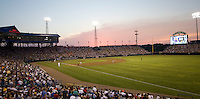 2010 College World Series. Johnny Rosenblatt Stadium in Omaha, Nebraska.  (Photo by Andrew Woolley / Four Seam Images)