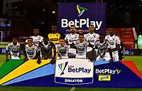 ENVIGADO - COLOMBIA, 02-12-2020: Jugadores de Deportivo Independiente Medellin posan para una foto, antes de partido entre Envigado F. C. y Deportivo Independiente Medellin de la fecha 2 por la Liguilla BetPlay DIMAYOR 2020, en el estadio Polideportivo Sur de la ciudad de Envigado. / Players of Deportivo Independiente Medellin  pose for a photo, prior a match between Envigado F. C., and Deportivo Independiente Medellin of the 2nd date for the BetPlay DIMAYOR 2020 Liguilla at the Polideportivo Sur stadium in Envigado city. Photo: VizzorImage / Luis Benavides / Cont.