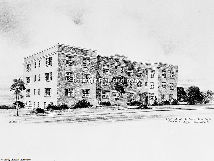 Pittsburgh PA:  View of an Ingham, Boyd, and Pratt rendering of the proposed phase 3 Apartments for Chatham Village.