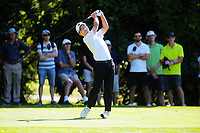 Jang Hyun Lee tees off at the 5th during the final against Daniel Hillier. Final day of the Jennian Homes Charles Tour / Brian Green Property Group New Zealand Super 6s at Manawatu Golf Club in Palmerston North, New Zealand on Sunday, 8 March 2020. Photo: Dave Lintott / lintottphoto.co.nz