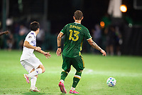 LAKE BUENA VISTA, FL - AUGUST 11: Dario Zuparic #13 of the Portland Timbers passes the ball during a game between Orlando City SC and Portland Timbers at ESPN Wide World of Sports on August 11, 2020 in Lake Buena Vista, Florida.