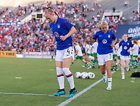PASADENA, CA - AUGUST 4: Becky Sauerbrunn #4 enters the field during a game between Ireland and USWNT at Rose Bowl on August 3, 2019 in Pasadena, California.