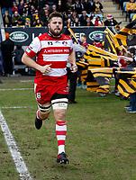 Photo: Richard Lane/Richard Lane Photography. Wasps v Gloucester Rugby.  Aviva Premiership. 23/12/2017.  Gloucester's Ed Slater.