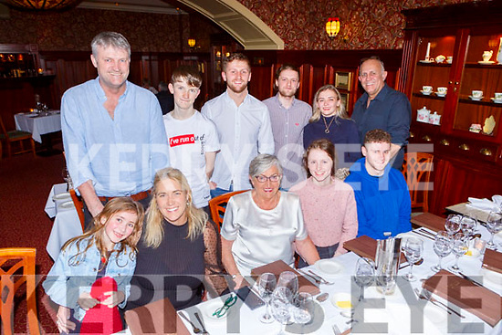 Ann Mulcahy Cork celebrated her 80th birthday with her daughter inlaw Aisling Mulcahy Killarney and her family in the International Hotel on Friday night