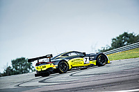 Andrew Howard & Jonny Adam, Aston Martin Vantage AMR GT3, Beechdean AMR regain control out of the Fogarty Esses during the British GT & F3 Championship on 10th July 2021