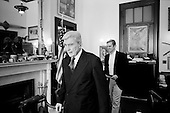 Washington DC<br /> District of Columbia<br /> USA<br /> January 29, 2007<br /> <br /> In his Russell building office Republican Senator John Warner from Virginia is the ranking Republican on the Senate Armed Services Committee and he opposes President Bush's plan of sending more troops to Iraq. He is with John Ullyot the director of Communications Senate Armed Services Committee.