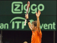 September 14, 2014, Netherlands, Amsterdam, Ziggo Dome, Davis Cup Netherlands-Croatia, Robin Haase  (NED) celebrates he scores 2-2<br /> Photo: Tennisimages/Henk Koster