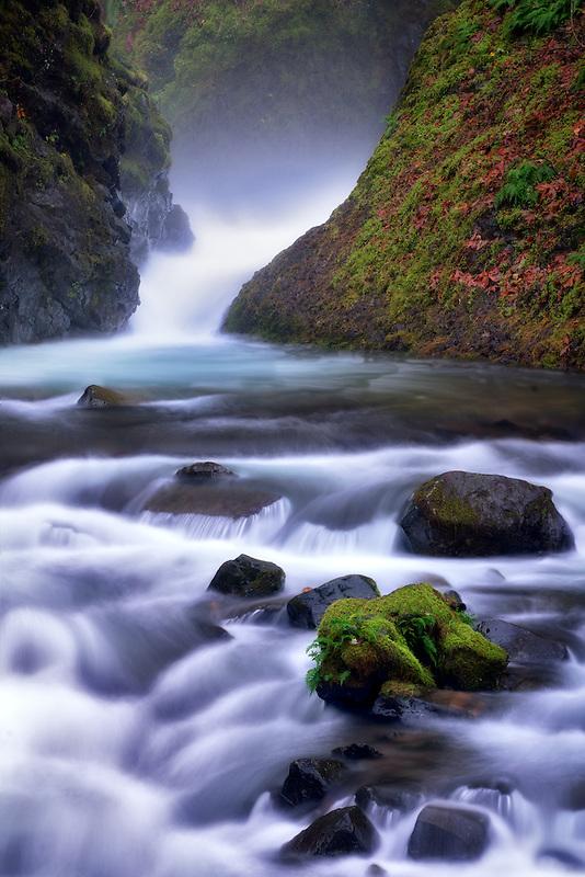 Bridal Veil Falls. Columbia River Gorge National Scenic Area, Oregon