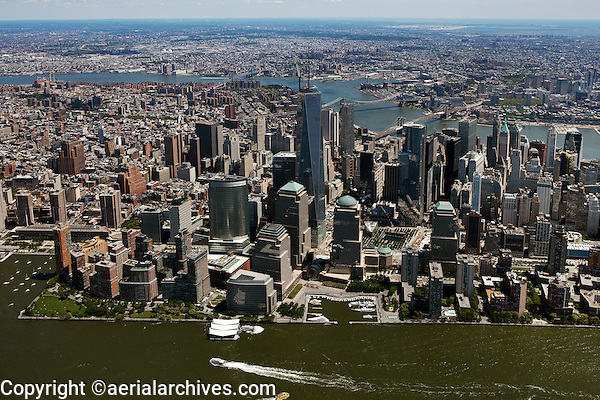 aerial photograph One World Trade Center and vicinity, Manhattan, New York City
