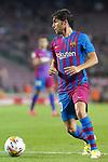 FC Barcelona's Sergi Roberto during La Liga match. August 15, 2021. (ALTERPHOTOS/Acero)