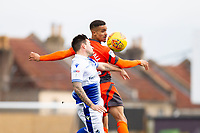 Paris Cowan-Hall of Wycombe Wanderers and Michael Kelly of Bristol Rovers during the Sky Bet League 1 match between Bristol Rovers and Wycombe Wanderers at the Memorial Stadium, Bristol, England on 19 January 2019. Photo by Mark  Hawkins / PRiME Media Images.