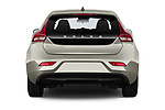 Straight rear view of 2017 Volvo V40 Momentum 5 Door Hatchback Rear View  stock images