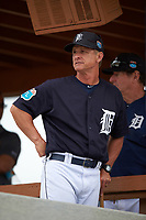 Detroit Tigers Scott Fletcher (84) during a minor league Spring Training game against the Washington Nationals on March 28, 2016 at Tigertown in Lakeland, Florida.  (Mike Janes/Four Seam Images)