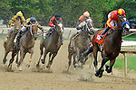 Contested (no. 7), ridden by Martin Garcia and trained by Bob Baffert, wins the 57th running of the grade 3 Eight Belles Stakes for three year old fillies on May 04, 2012 at Churchill Downs in Louisville, Kentucky.  (Bob Mayberger/Eclipse Sportswire)