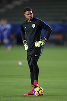 Carson, CA - Sunday January 28, 2018: Zack Steffen prior to an international friendly between the men's national teams of the United States (USA) and Bosnia and Herzegovina (BIH) at the StubHub Center.