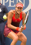 Ana Ivanovic (SRB) loses to Dominika Cibulkova (SVK) 6-3, 3-6, 6-3 in the first match in Arthur Ashe at the US Open in Flushing, MY on August 31, 2015.