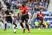 Paul Pogba of Manchester United (6)  during the Premier League match between Brighton and Hove Albion and Manchester United at the American Express Community Stadium, Brighton and Hove, England on 19 August 2018. Photo by Edward Thomas / PRiME Media Images.