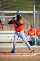 Miami Marlins Jerar Encarnacion (98) during a Minor League Spring Training Intrasquad game on March 27, 2018 at the Roger Dean Stadium Complex in Jupiter, Florida.  (Mike Janes/Four Seam Images)