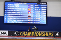 SPEEDSKATING: CALGARY: Olympic, Oval, 02-03-2019, ISU World Allround Speed Skating Championships, Result 5000m Men, Sven Kramer (NED), Patrick Roest (NED), Sverre Lunde Pedersen (NOR), ©Fotopersburo Martin de Jong