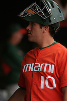 Richard O'Brien of the Miami Hurricanes vs. the Virginia Cavaliers: March 24th, 2007 at Davenport Field in Charlottesville, VA.  Photo by:  Mike Janes/Four Seam Images