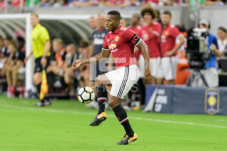 Houston, TX - Thursday July 20, 2017: Antonio Valencia during a match between Manchester United and Manchester City in the 2017 International Champions Cup at NRG Stadium.