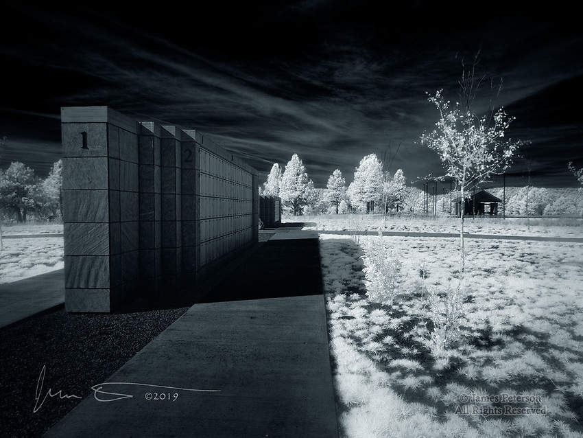 Arizona Veterans' Memorial Cemetery - Camp Navajo  (Infrared) ©2019 James D Peterson.