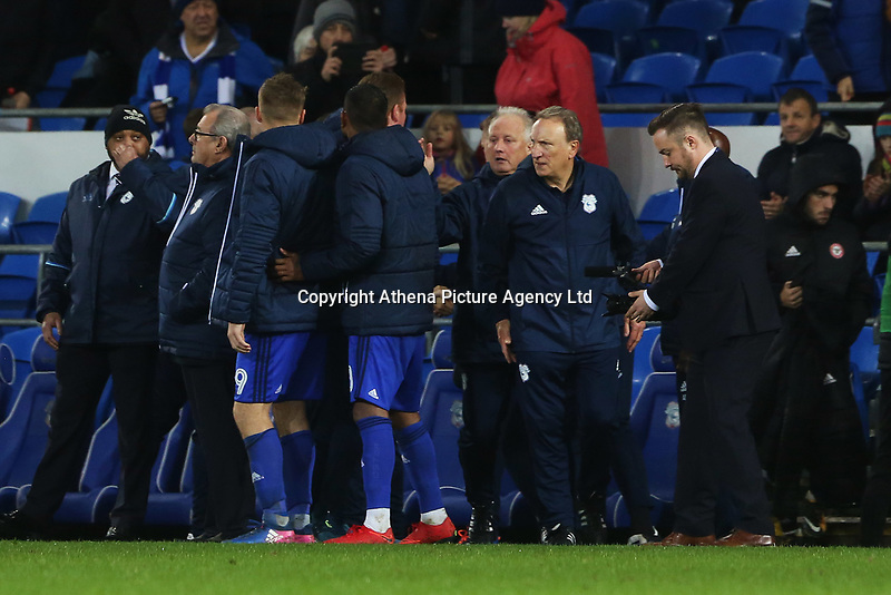 Cardiff City manager Neil Warnock after the final whistle of the Sky Bet Championship match between Cardiff City and Brentford at the Cardiff City Stadium, Wales, UK. Saturday 18 November 2017