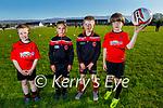Park FC U9's enjoying their return to soccer training on Monday night. L to r: Coby McMahon, Rubén Rivas McHugh, William Duggan and Jamie McEvoy