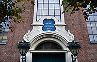 Nederland - Hoorn- 2020.  Lutherse kerk. Bijbeltekst boven de deur: Hoe lieflijk zijn uwe wooningen Heere Zebaoth! Psalm 84:2.   Foto ANP / HH / Berlinda van Dam