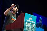 Josh Fox, director of Gasland speaks at the Powershift 2013 plenary in Pittsburgh, PA. (Photo by: Robert van Waarden)