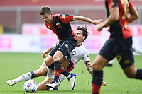 Miha Zajc-Luca Cigarini <br /> Serie A football match between Genoa CFC and FC Crotone at Marassi Stadium in Genova (Italy), September 20th, 2020. Photo Image Sport / Insidefoto