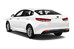 Car pictures of rear three quarter view of 2016 KIA Optima LX Turbo 4 Door Sedan angular rear