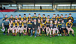 The Ballyea team have a new addition following the county senior hurling final against Cratloe at Cusack Park. Photograph by John Kelly.