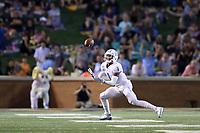 WINSTON-SALEM, NC - SEPTEMBER 13: Myles Dorn #1 of the University of North Carolina intercepts the ball during a game between University of North Carolina and Wake Forest University at BB