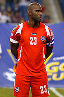 Panama defender Felipe Baloy (23) before the CONCACAF soccer match between Panama and Guadeloupe at Ford Field Detroit, Michigan.