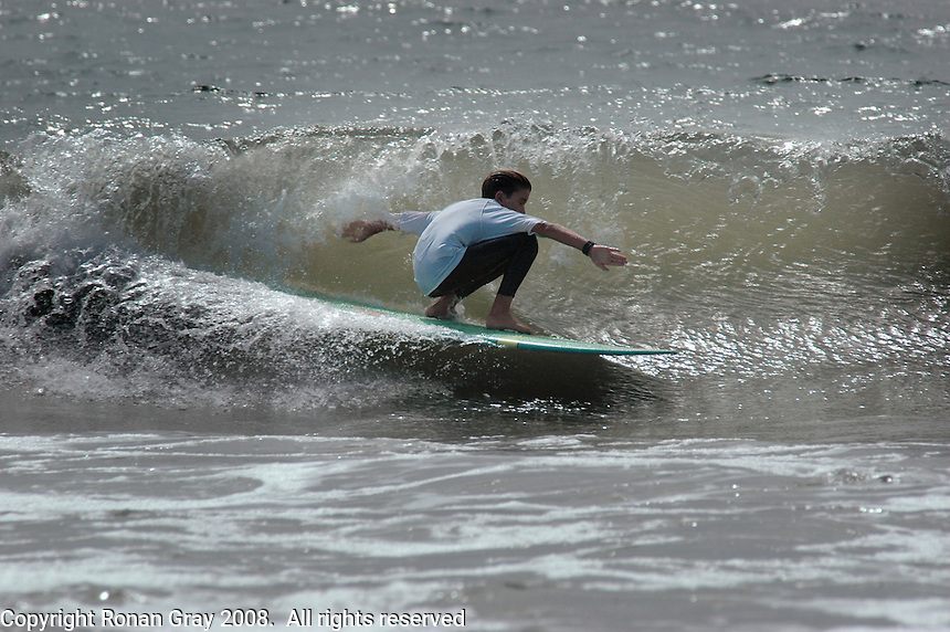 Sunday, August 24 2008.  Third place winner of the Amateur Men?s competition, 13-yr-old Lucas Dirske