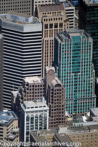aerial photograph 33 New Montgomery Street, 55 Second Street, 595 Market Street skyscrapers San Francisco