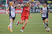 Portland, OR - Saturday July 22, 2017: Tori Huster, Lindsey Horan during a regular season National Women's Soccer League (NWSL) match between the Portland Thorns FC and the Washington Spirit at Providence Park.