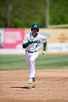 Beloit Snappers left fielder Luke Persico (8) runs the bases during a game against the Bowling Green Hot Rods on May 7, 2017 at Pohlman Field in Beloit, Wisconsin.  Bowling Green defeated Beloit 6-2.  (Mike Janes/Four Seam Images)