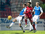 St Johnstone v Aberdeen…13.12.17…  McDiarmid Park…  SPFL<br />Joe Shaughnessy and Nicky Maynard<br />Picture by Graeme Hart. <br />Copyright Perthshire Picture Agency<br />Tel: 01738 623350  Mobile: 07990 594431
