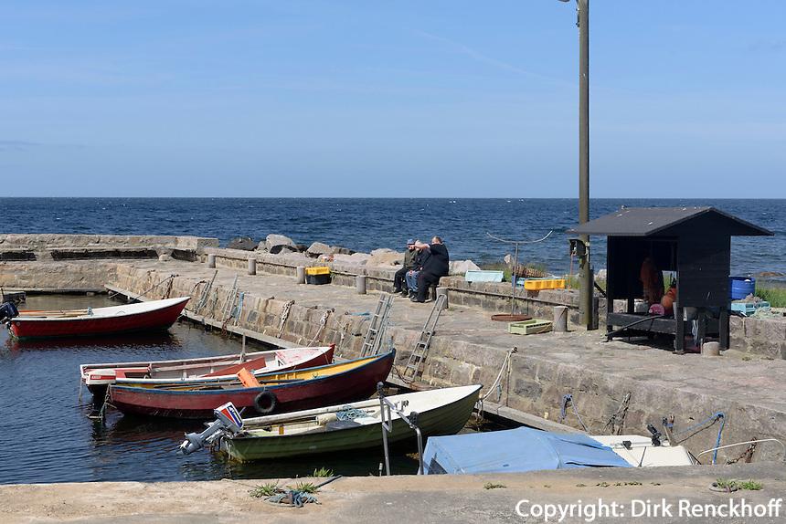 Hafen von Helligpeder auf der Insel Bornholm, Dänemark, Europa<br /> Port of Helligpeder, Isle of Bornholm Denmark
