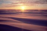 Arctic Alaska, the North Slope, Prudhoe Bay, Spring sunshine over wind-sculpted snow..