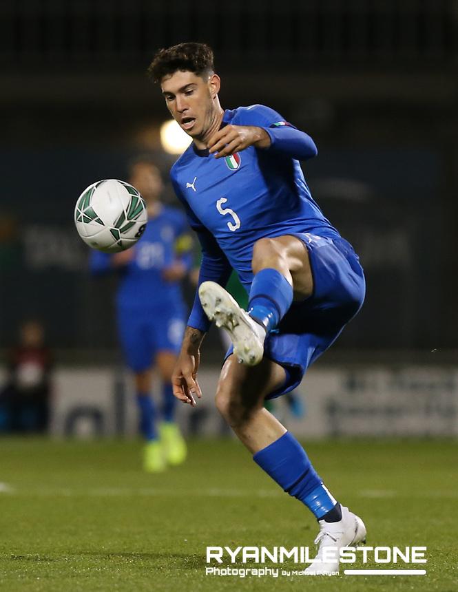 EVENT:<br /> UEFA European U21 Championship Qualifier Group 1 Republic of Ireland v Italy<br /> Thursday 10th October 2019,<br /> Tallaght Stadium, Dublin<br /> <br /> CAPTION:<br /> Alessandro Bastoni of Italy<br /> <br /> Photo By: Michael P Ryan