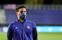WIENER NEUSTADT, AUSTRIA - NOVEMBER 16: Nicholas Gioacchini #9 of the United States men's national team before a game between Panama and USMNT at Stadion Wiener Neustadt on November 16, 2020 in Wiener Neustadt, Austria.