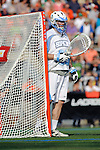 Baltimore, MD - March 17: Goalkeeper Pierce Bassett #33 Hopkins during the Syracuse v Johns Hopkins mens lacrosse game at  Homewood Field on March 17, 2012 in Baltimore, MD.(Ryan Lasek/Eclipse Sportswire)