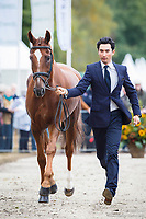 CHN-Alex Hua Tian (DON GENIRO) FIRST HORSE INSPECTION: 2015 NED-Military Boekelo-Enschede CCIO3* (Wednesday 7 October) CREDIT: Libby Law COPYRIGHT: LIBBY LAW PHOTOGRAPHY